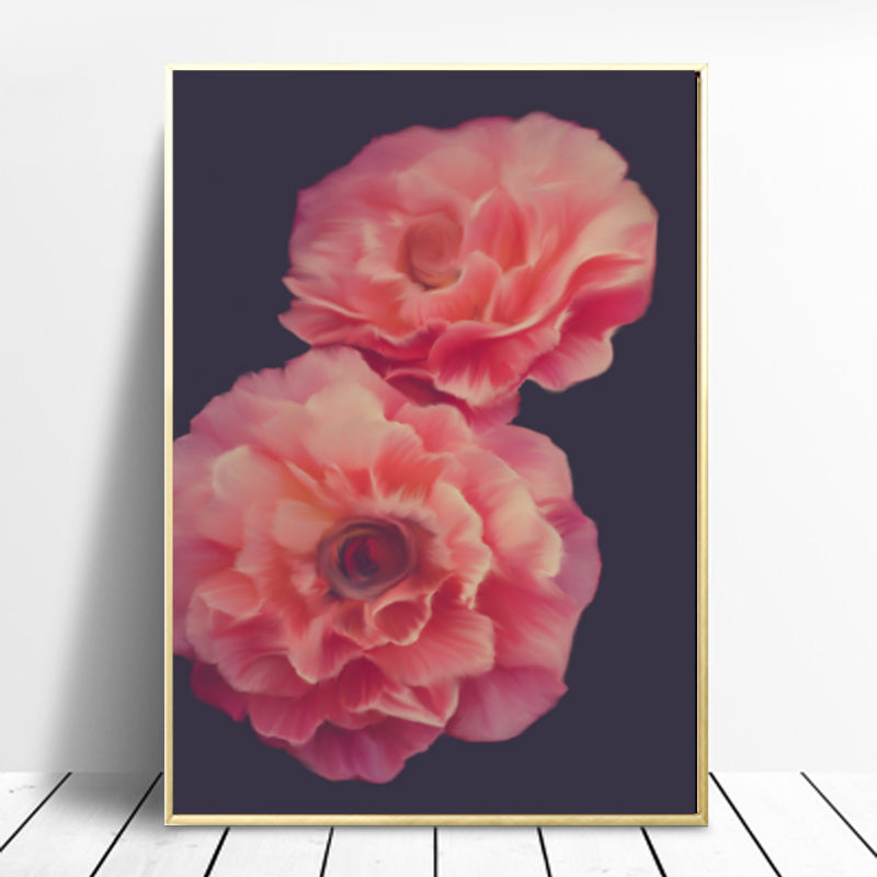 Wall Art - Vibrant Romantic Florals on Black (A-309)