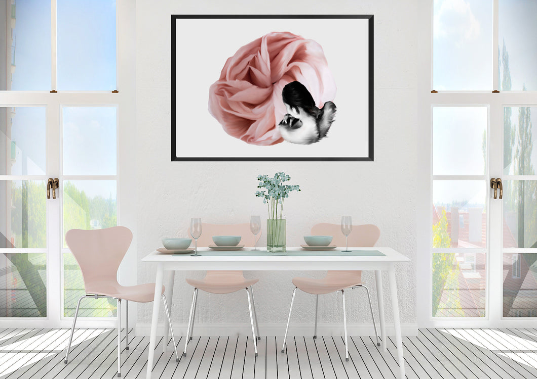 Wall Art -  Rose - Transformation series   (A-411)