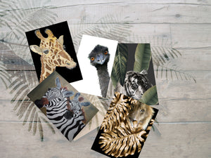 Greeting Cards - 5 PK Assorted Animal Designs