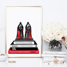 Wall art-  Red Bottom Heels Stack  - Framed/ Unframed Art print (A-708HPS08)