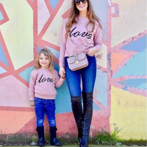 Pinky Love Sweatshirt™ - Mommy and Me