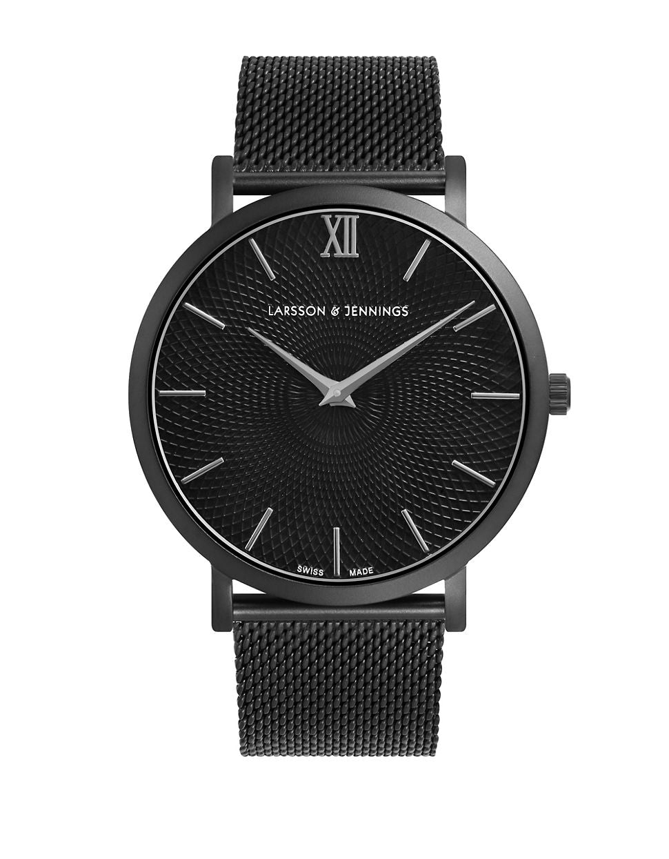 LARSSON AND JENNINGS 5th Anniversary Lugano Black PVD Stainless Steel Milanese Strap Watch