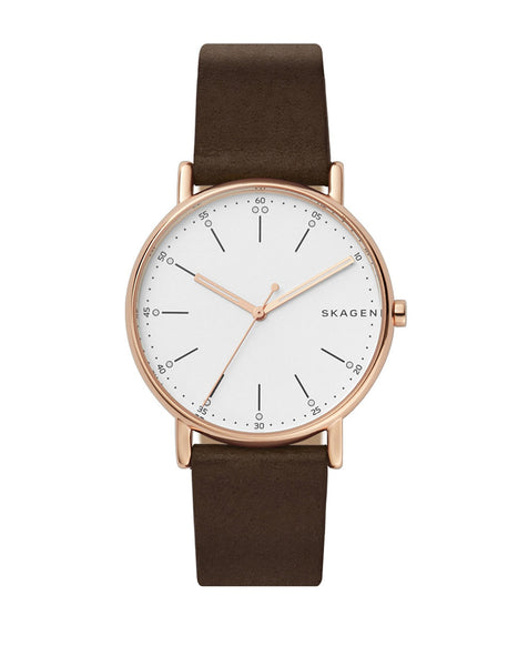 SKAGEN Limited Edition Chinese New Year Goldtone Stainless Steel Leather Strap Watch