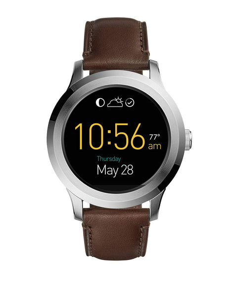 FOSSIL Gen 2 Smartwatch - Q Founder Dark Brown Leather