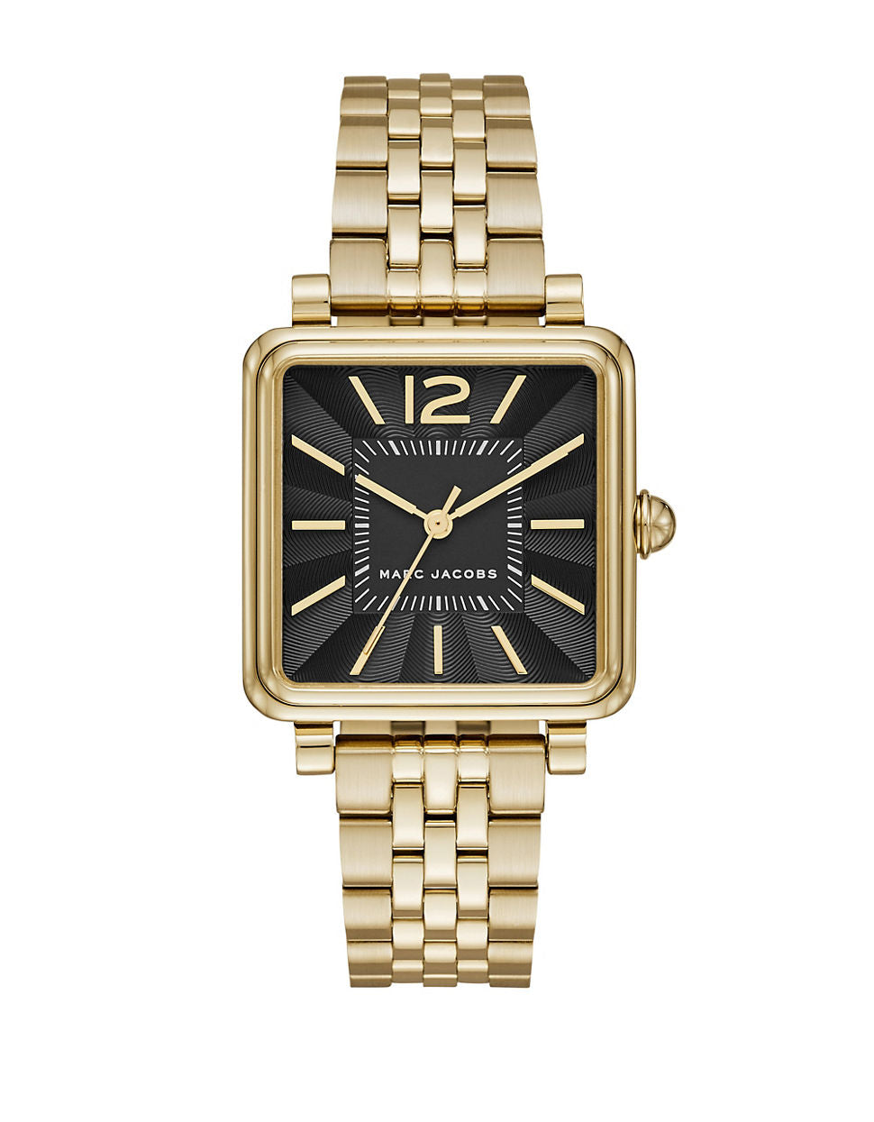 MARC JACOBS Vic Goldtone Stainless Steel Link Bracelet Watch