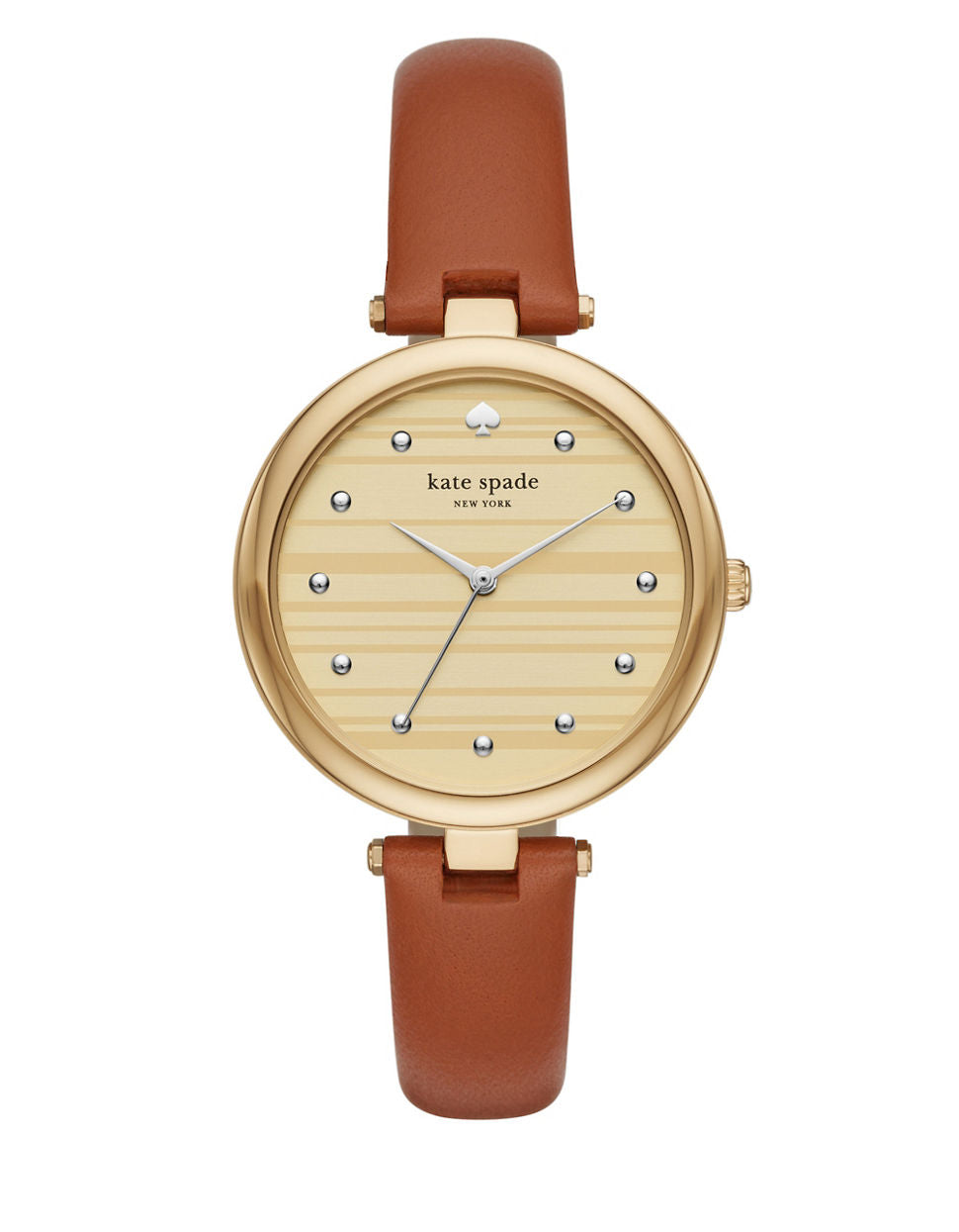 KATE SPADE NEW YORK Goldtone Leather Varick Watch