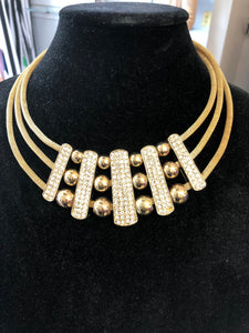 Gold statement choker