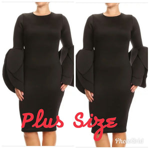 Petal sleeve dress