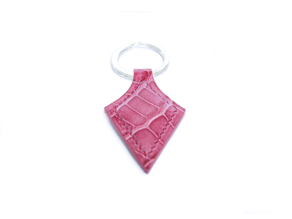 Pink alligator Keyring