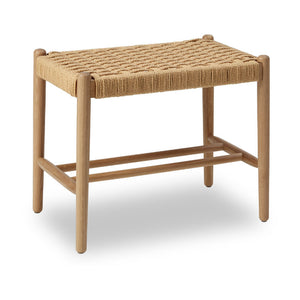 ByDurr Bench in Solid Oak w. woven seat - CPHAGEN
