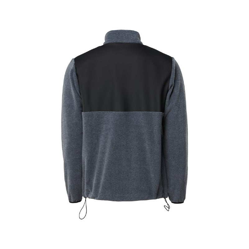 Rains Fleece Zip Puller - Grey Melange
