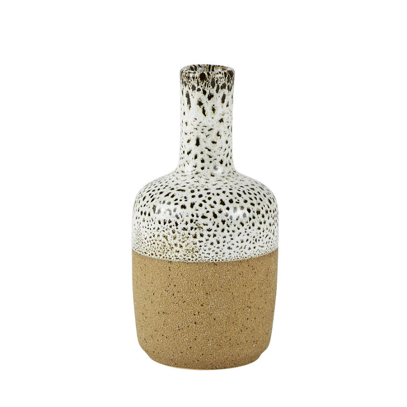 Villa Collection Stoneware Vase Offwhite/Natural - CPHAGEN