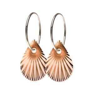 Scherning København - Sterling Silver Splash Duo Teardrop Earrings (Ø14mm)