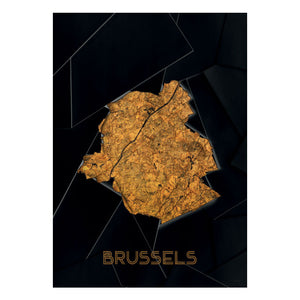 Chicura Map poster - Brussels (70x100 cm) - CPHAGEN