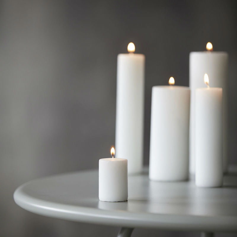 House Doctor White Candle (Ø4 x H6cm)
