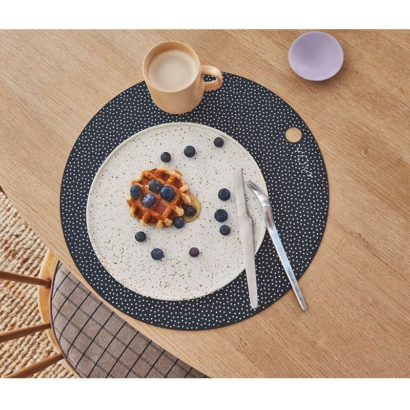 OYOY Living Dot silicon place mats (2 pack) Ø38cm