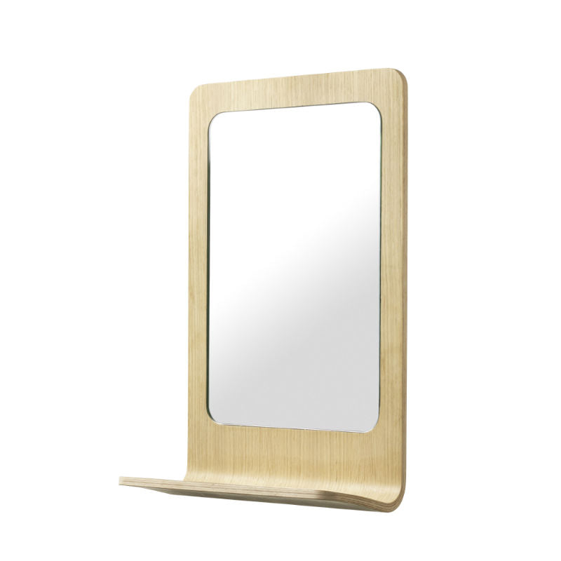 FDB Flow Oak mirror with shelf (H51xW32cm) - CPHAGEN