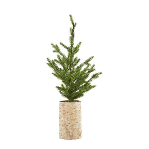 House Doctor Christmas tree w. lights on wooden base (H64cm) - CPHAGEN