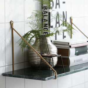 House Doctor Green Marble Shelf (24x70cm) - CPHAGEN
