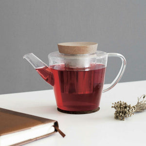 Viva Scandinavia Glass teapot with Wood (1.2L) - CPHAGEN