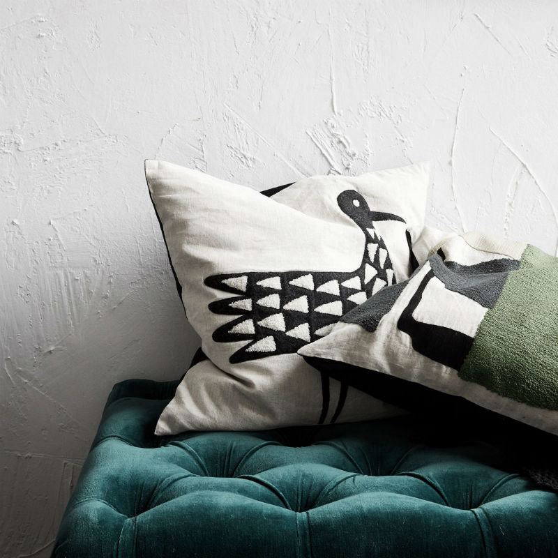House Doctor Bird Motive cushion cover (50x50cm) - CPHAGEN