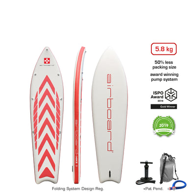 "Airboard HIKE Ultralight 9'9"" Red"