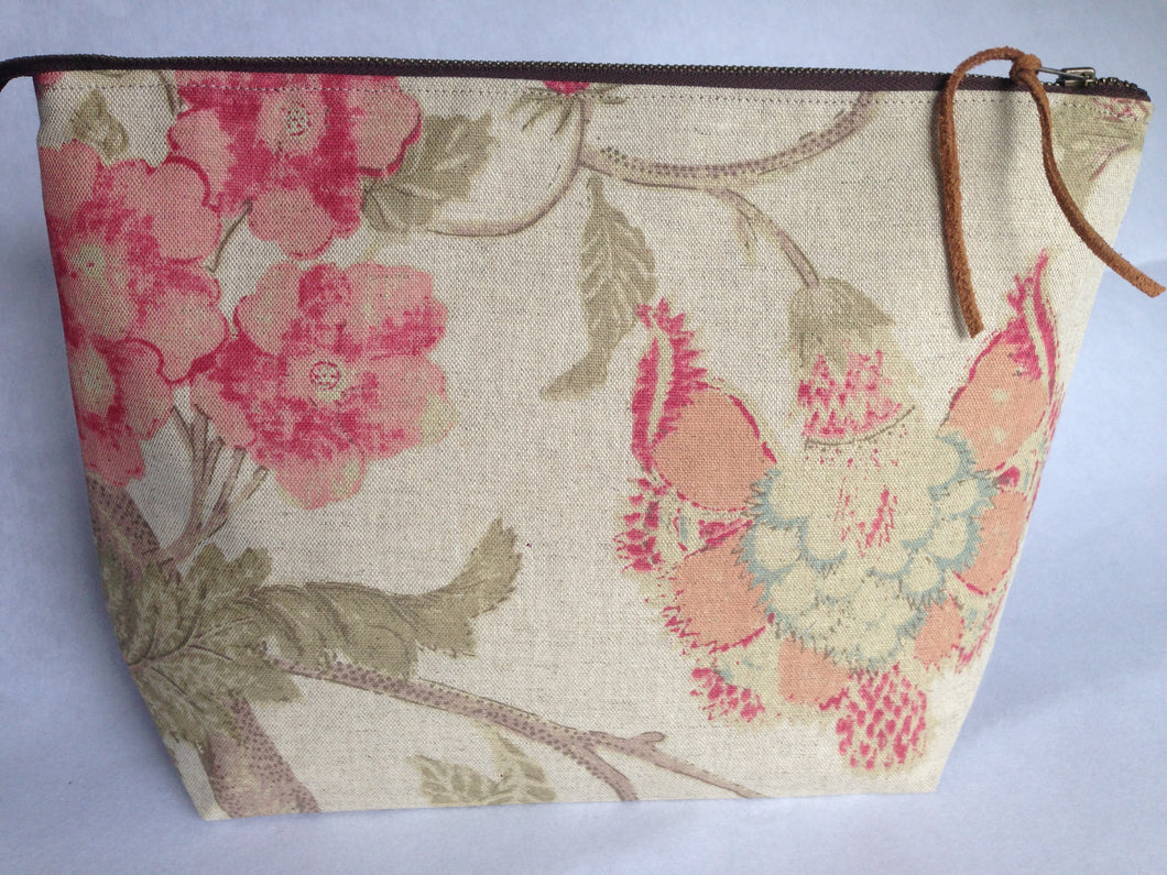 Small Linen Project Bag {Christina}