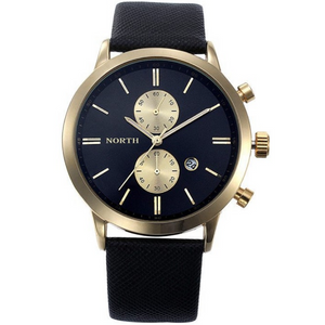 MERCURY Black and Gold Men's Date and Time Sport Watch