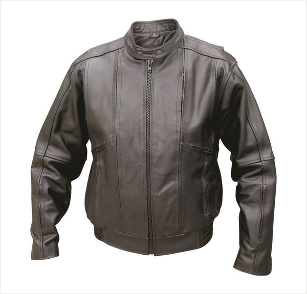 Mens Analine Cowhide Vented Touring Bomber Jacket