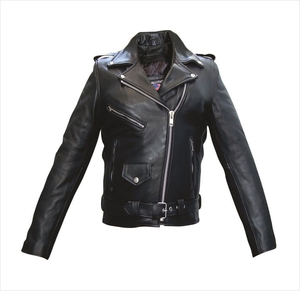 Womens Full Cut Motorcycle Jacket with Z/O Liner & Removable Belt