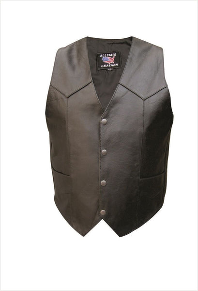 Mens TALL Buffalo Leather Vest