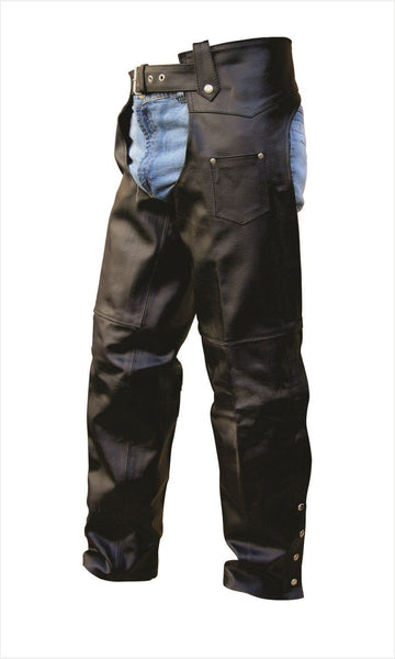 Unisex Plain Leather Motorcycle Chaps