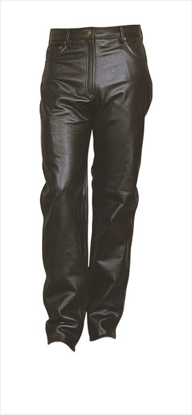 Womens Five Pocket Cowhide Leather Pants