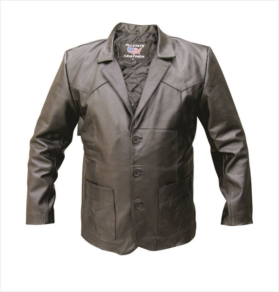 Mens Stylish Lambskin Leather Blazer