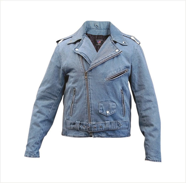 Blue Denim Classic Motorcycle Jacket