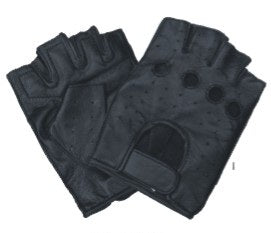 Premium Vented Fingerless Motorcycle Gloves with Velcro Strap