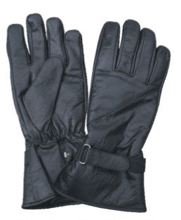 Premium Half Gauntlet Lined Motorcycle Gloves with Velcro Tab