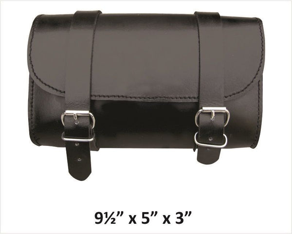 Small Plain Leather Tool Bag