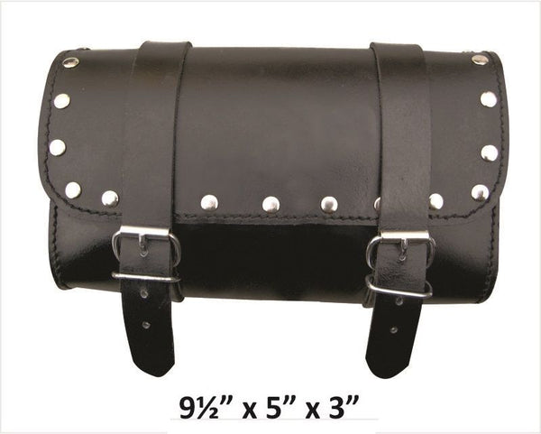 Small Leather Tool Bag with Studs