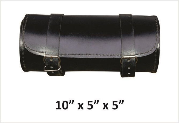 Small Round Leather Tool Bag
