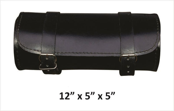 Large Round Leather Tool Bag