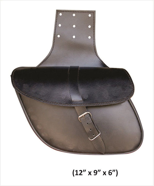 Medium Plain Throw-Over Leather Saddlebags