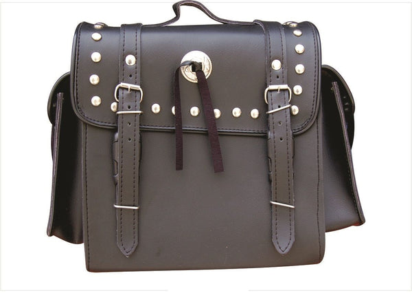 PVC Studded Travel/Luggage Bag with Two Side Pouches