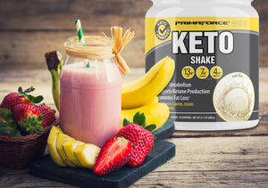 Strawberry Banana Keto Smoothie