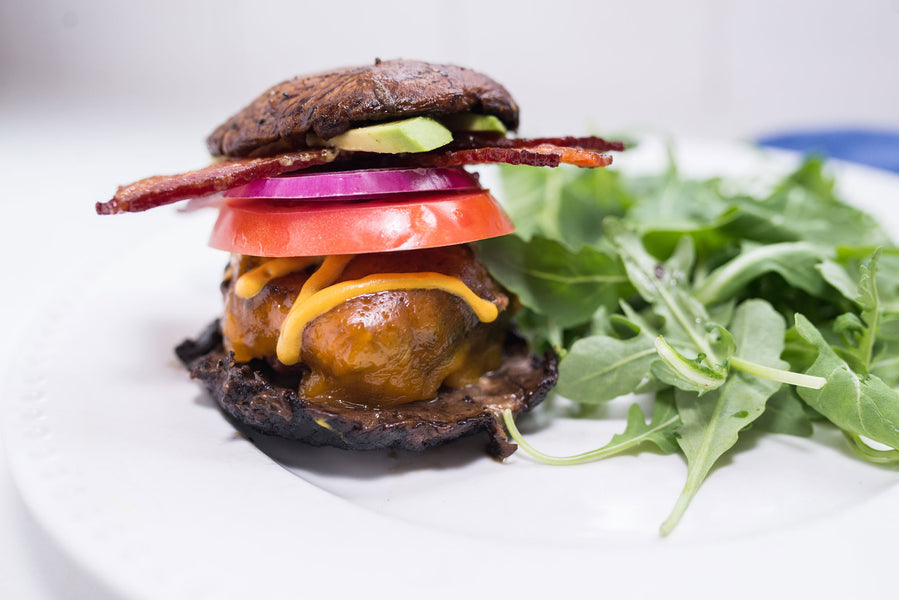 Portobello Bacon Burgers