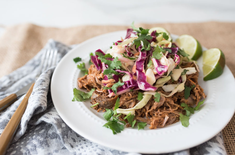 Pulled Pork with Cabbage Slaw