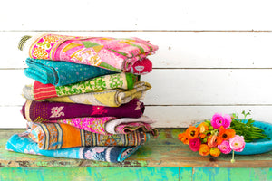 KANTHA COTTON THROW 50' X 70' '