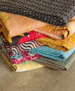 KANTHA COTTON THROW 50' X 70'