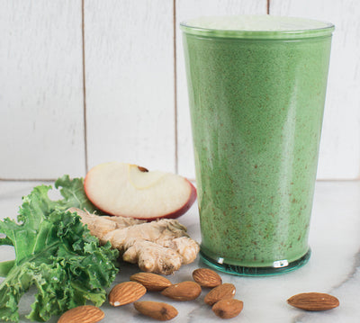 Kale, Apple, Ginger, and Almond Milk