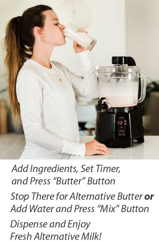make nut milk oat milk and butter is easy with nutramilk